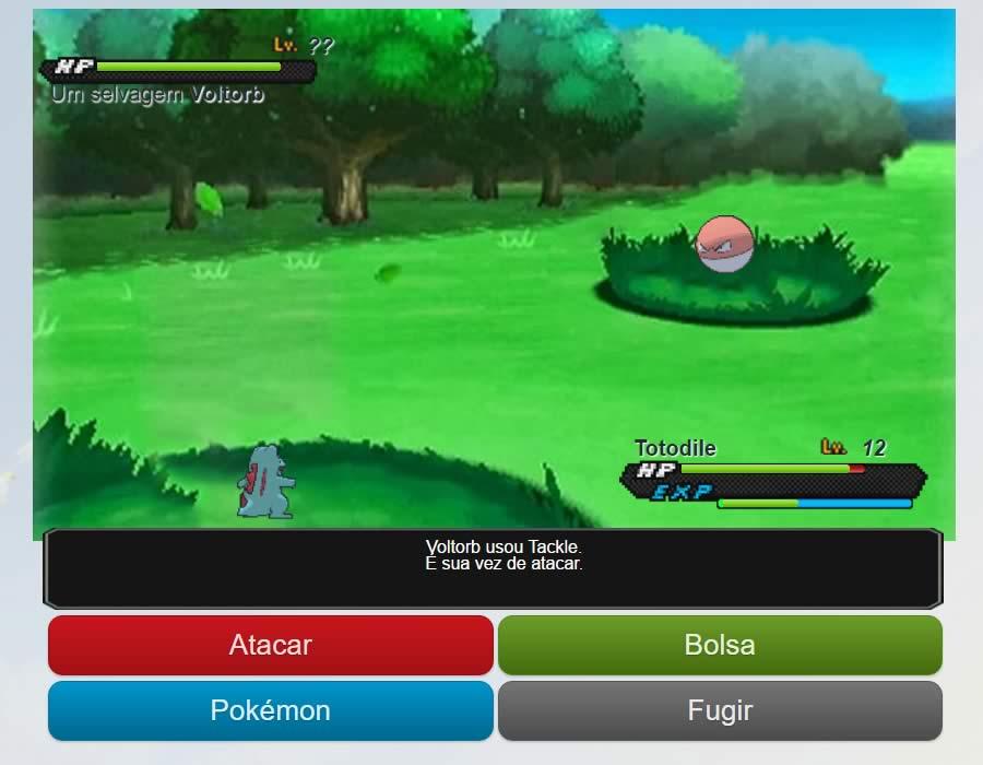 Como batalhar em Pokémon Age