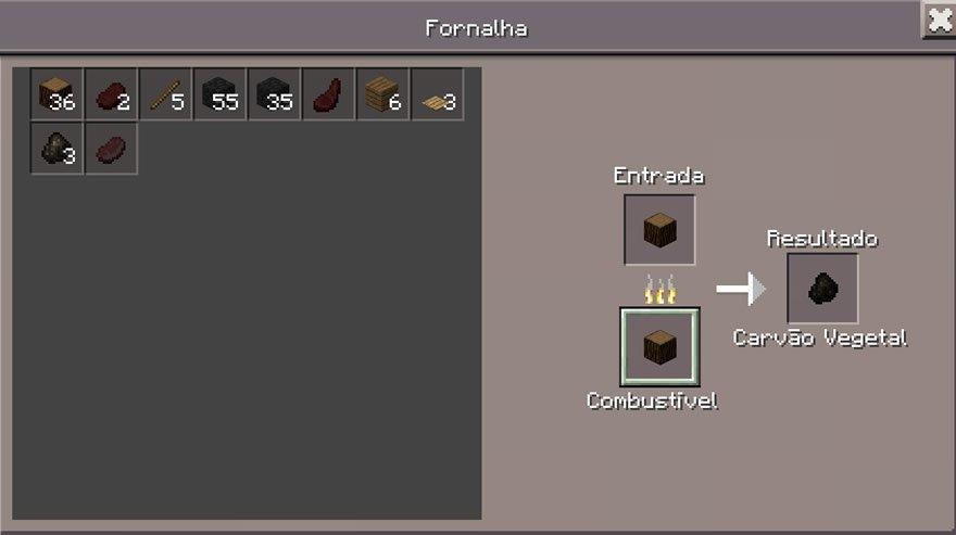 Como criar carvão no Minecraft PE