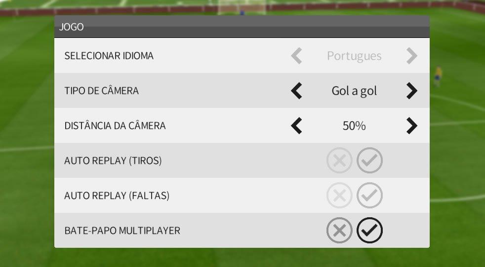 Câmeras do Dream League Soccer