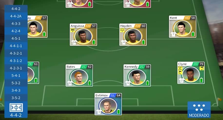Como mudar a formação do time em Dream League Soccer