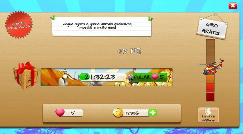 Giro grátis na loteria de Wonder Zoo