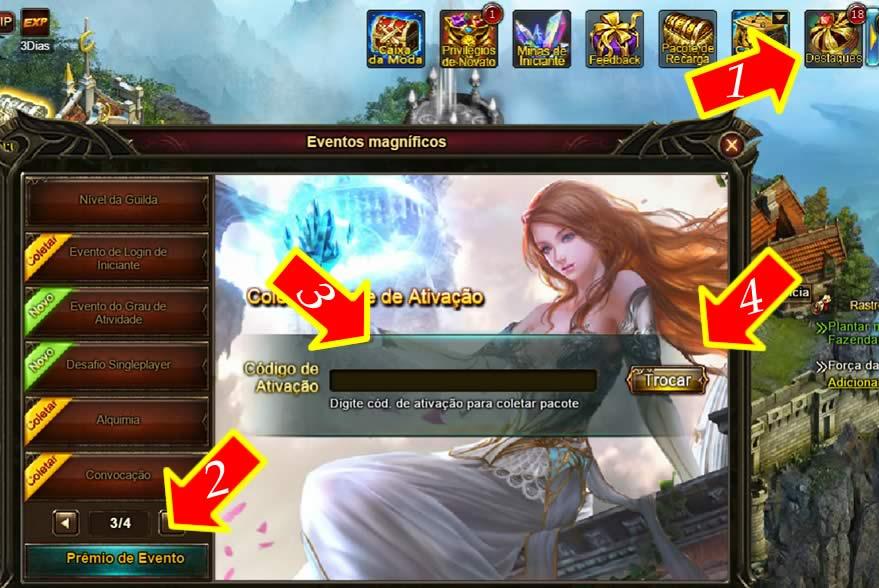 Como resgatar seu código do Legend Online