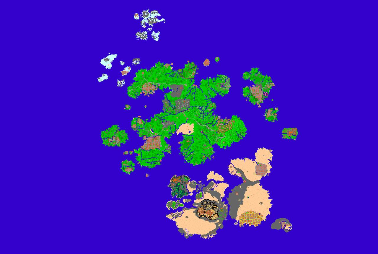O mapa mundi de Medivia