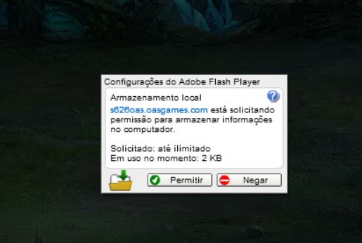Permitir Flash no Legend Online