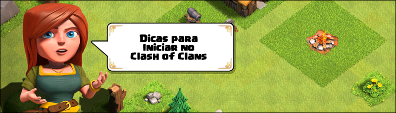 como iniciar no clash of clans