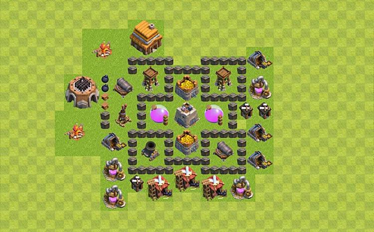 layout cv 4