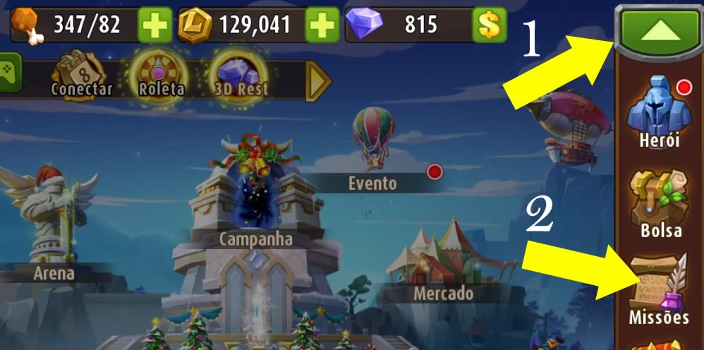 As missões do jogo Magic Rush