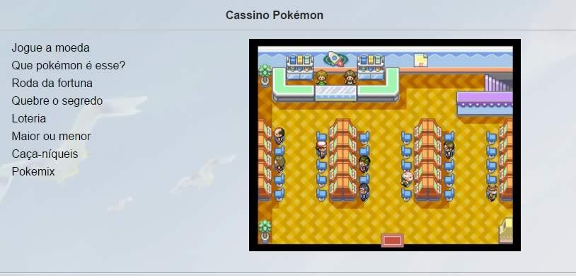 O cassino de Pokémon Age
