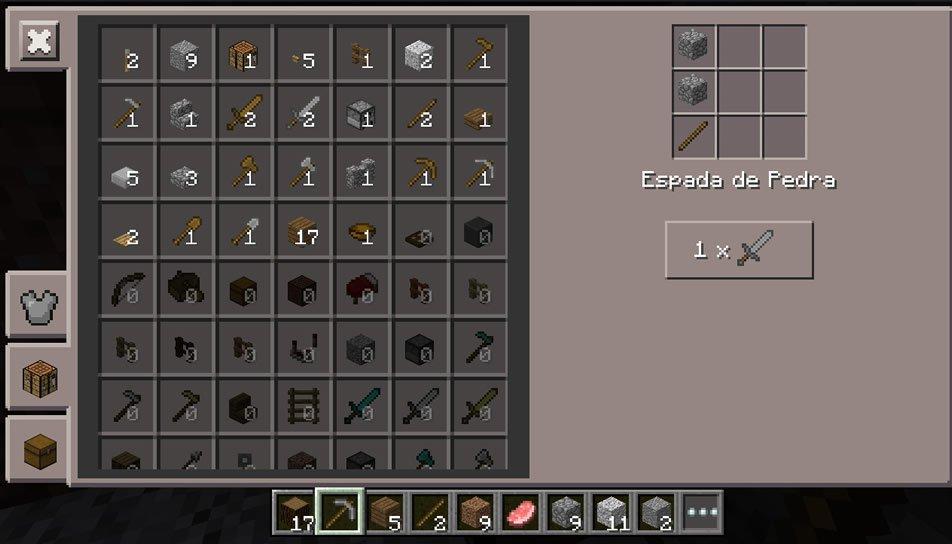 Criando itens na Bancada de Minecraft PE