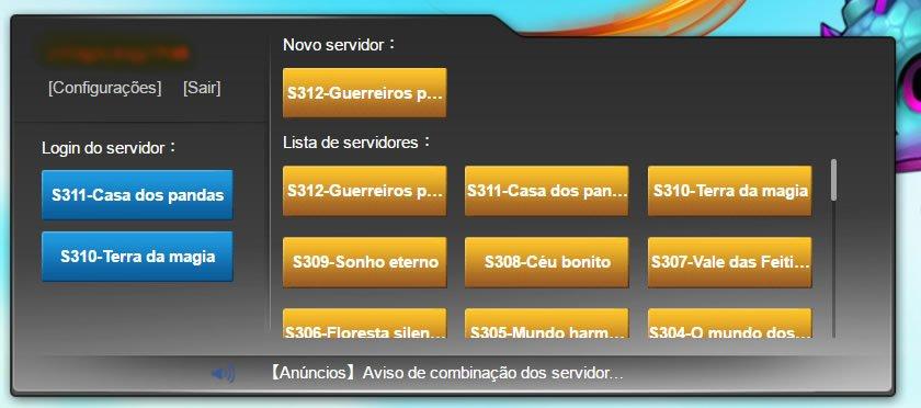 Lista de servidores DDTank