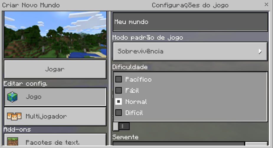 Os modos de jogo de Minecraft Pocket Edition