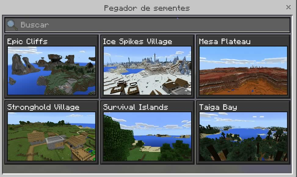 Pegador de Sementes do Minecraft PE