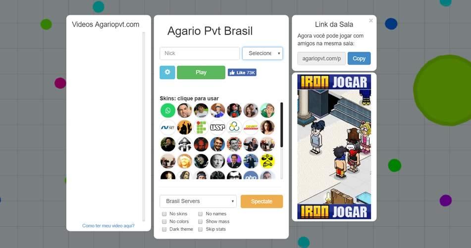 Servidor brasileiro de Agario