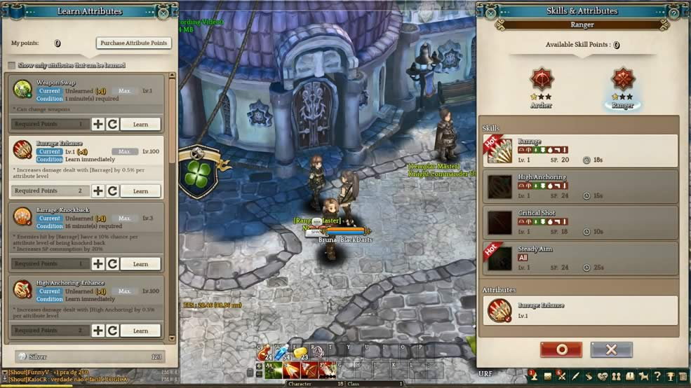 Entendendo os atributos de Tree of Savior