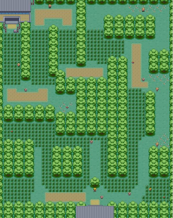 mapa da floresta de viridian
