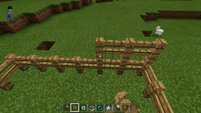 Cerca de 2 andares Minecraft