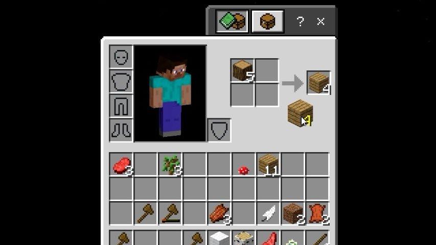 Receita tábua de madeira Minecraft