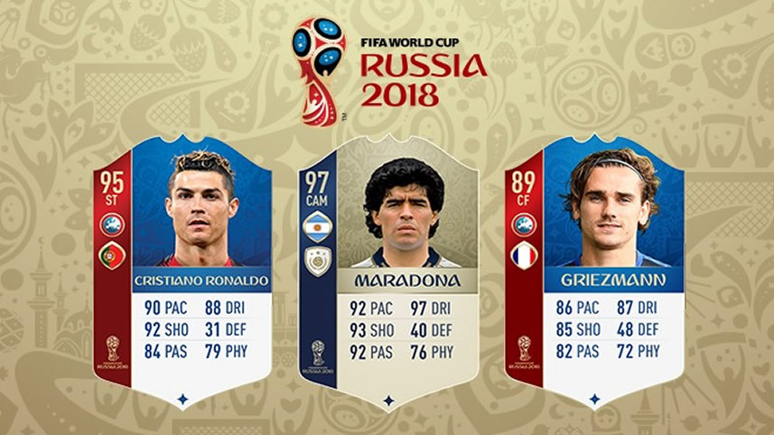 Cartas copa do mundo 2018 FIFA 18 Ultimate Team