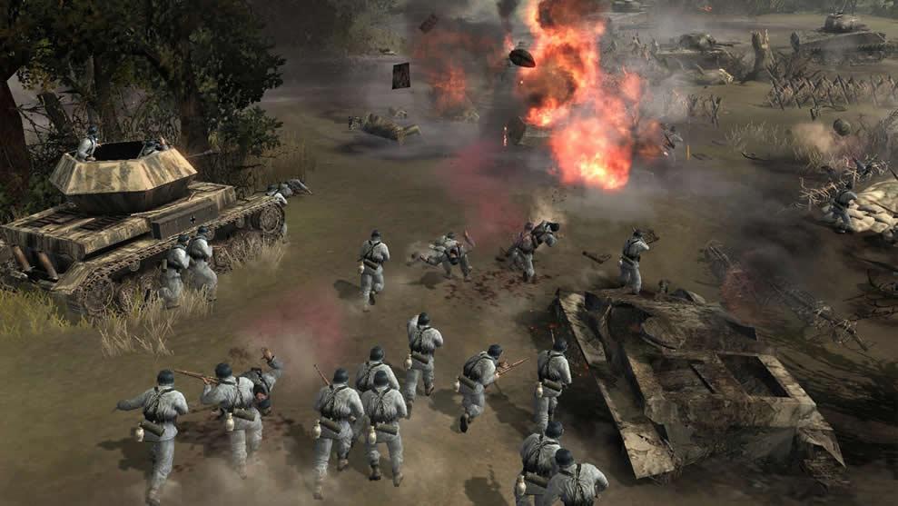Company of Heroes jogos de guerra para PC fraco