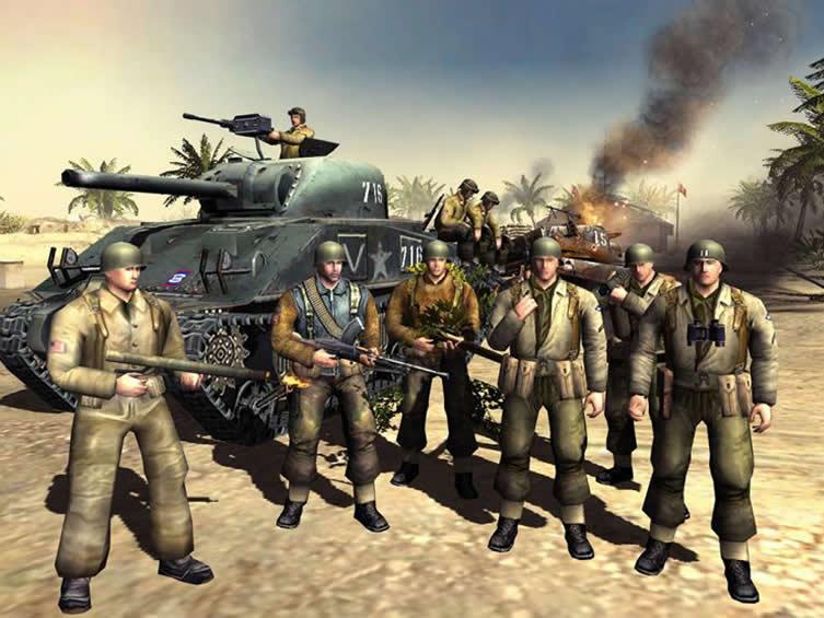 Jogos de guerra para pc fraco - Men of War