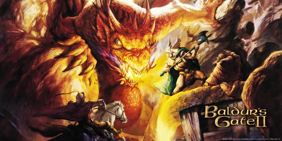 melhores jogos rpg Baldurs Gate II