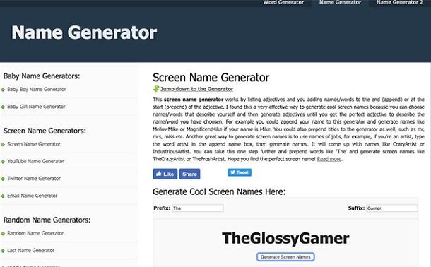 Melhores Geradores de Nick para Jogos: Conheça 04 opções
