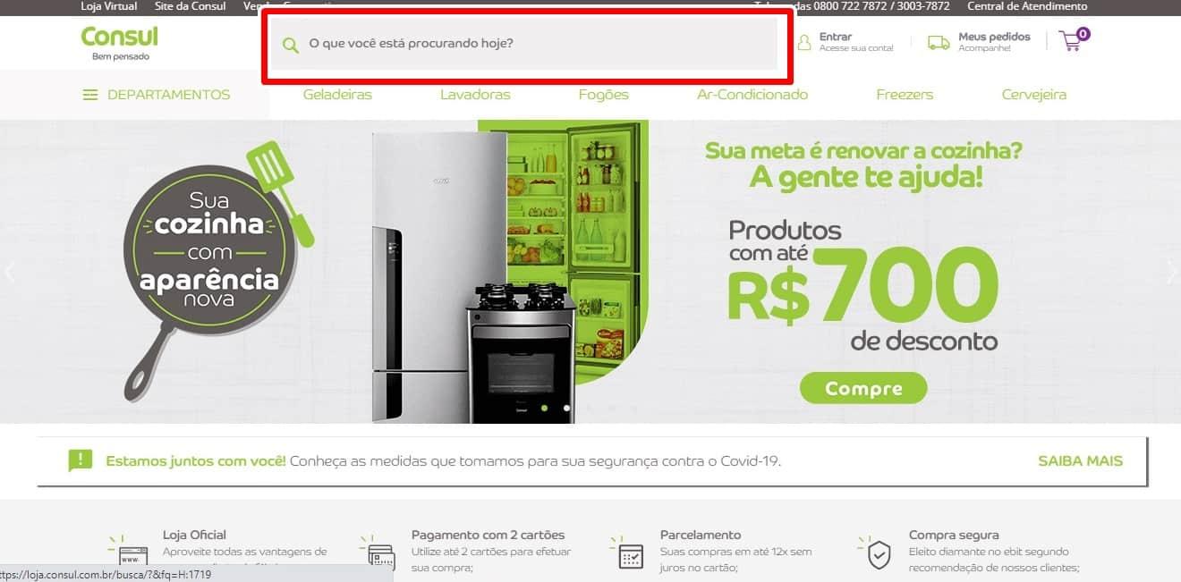 Como comprar no site da Consul?