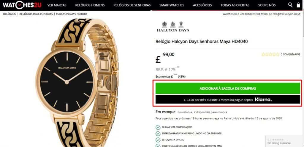 Watches2u é confiável?