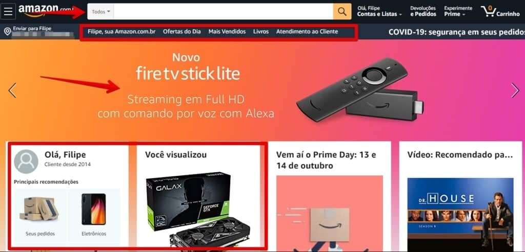 amazon é confiável - página inicial