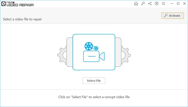 seleciona arquivo remo video repair