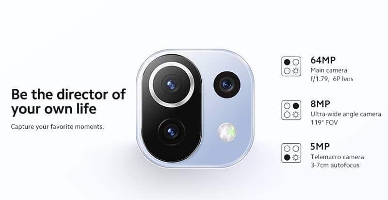 Câmeras Xiaomi 11 Lite NE