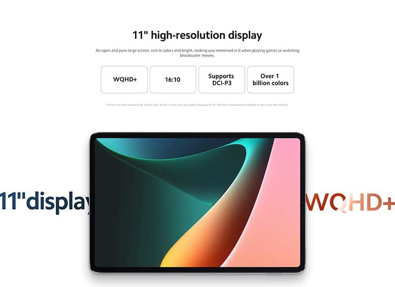 tela Xiaomi Pad 5